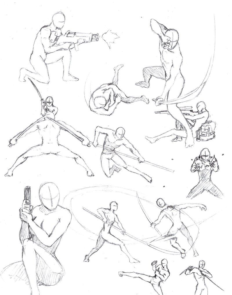 Action Poses 2 By Shinsengumi77 On Deviantart Drawing Poses Drawing Reference Figure Drawing