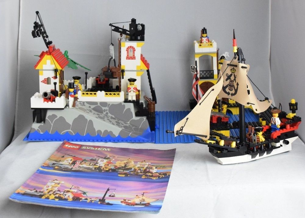 Lego Set 6277 Pirates Imperial Trading Post Instructions 100 Complete No Box Lego Ship Pirate Lego Lego