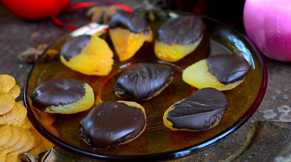 Suklaa-aprikoosit