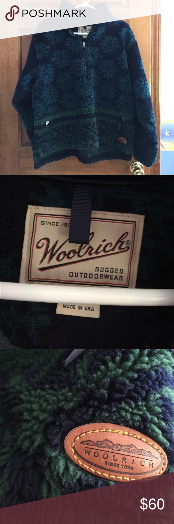 Amazing vintage woolrich fleece jacket