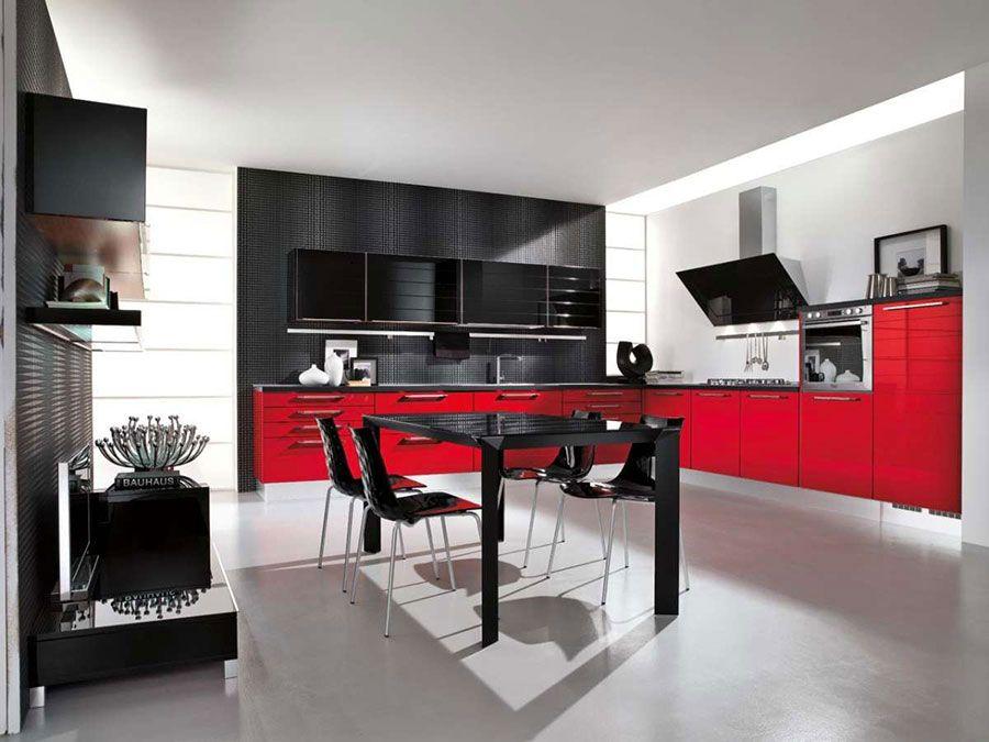 30 Modelli di Cucine Rosse dal Design Moderno   Cucine   Cucina ...