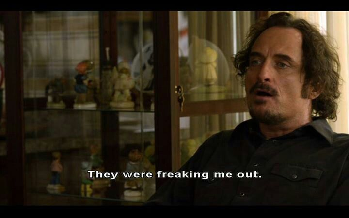 Tig and his fear of dolls. Lol