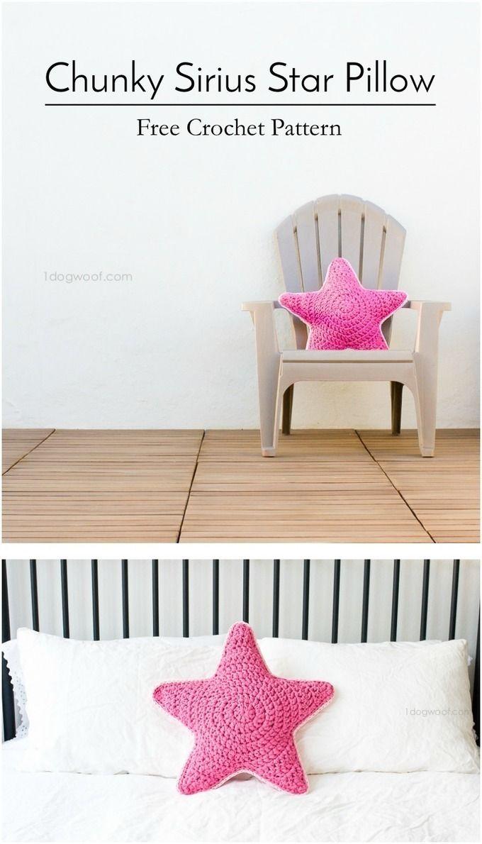 Sirius the Crochet Star Pillow | Trapillo, Artesanía y Decoración
