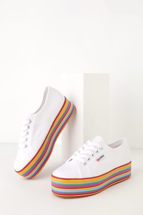 2790 COTW White Multi Platform Sneakers