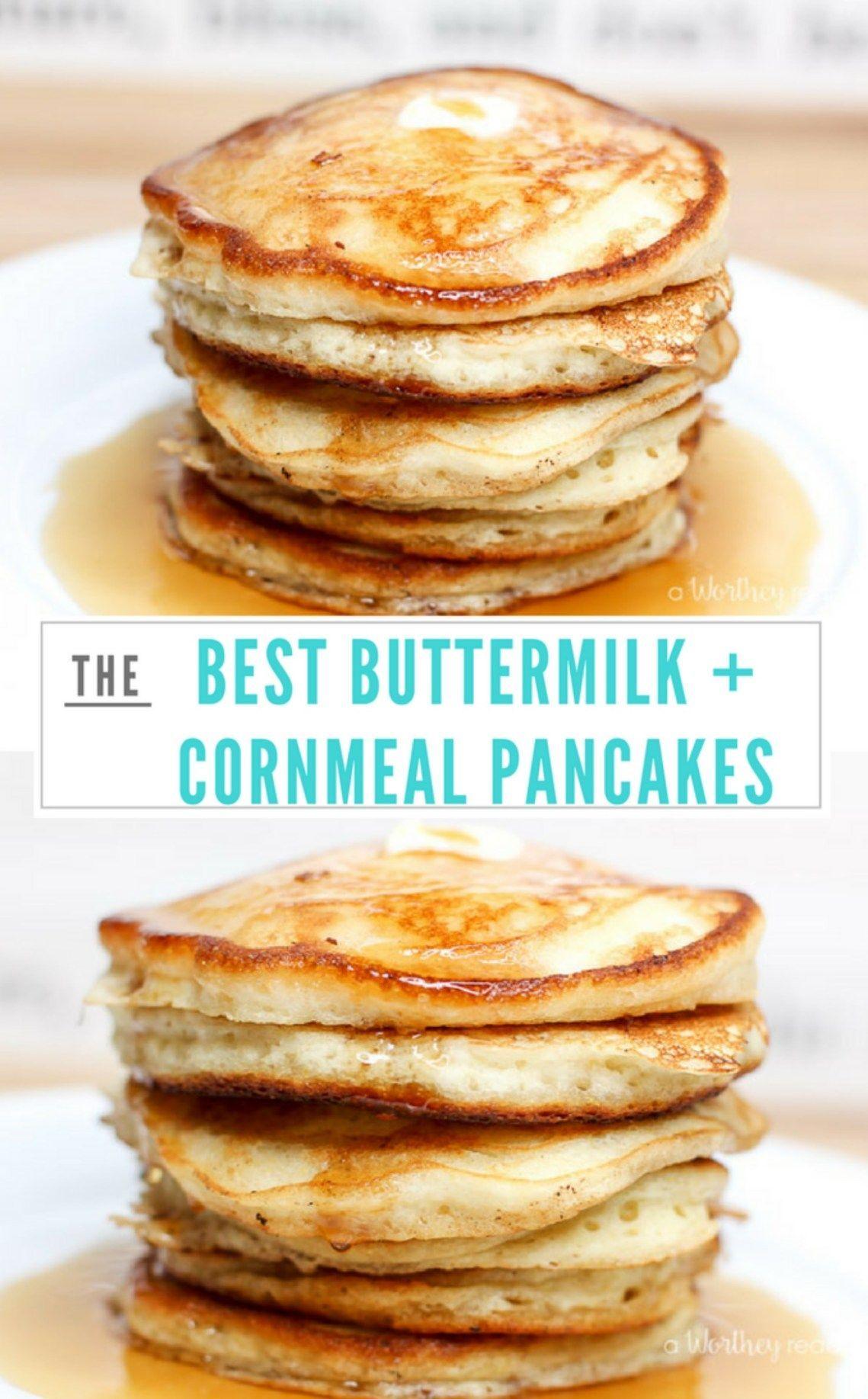 The Best Buttermilk Cornmeal Pancakes In 2020 Cornmeal Pancakes Pancake Recipe Recipes