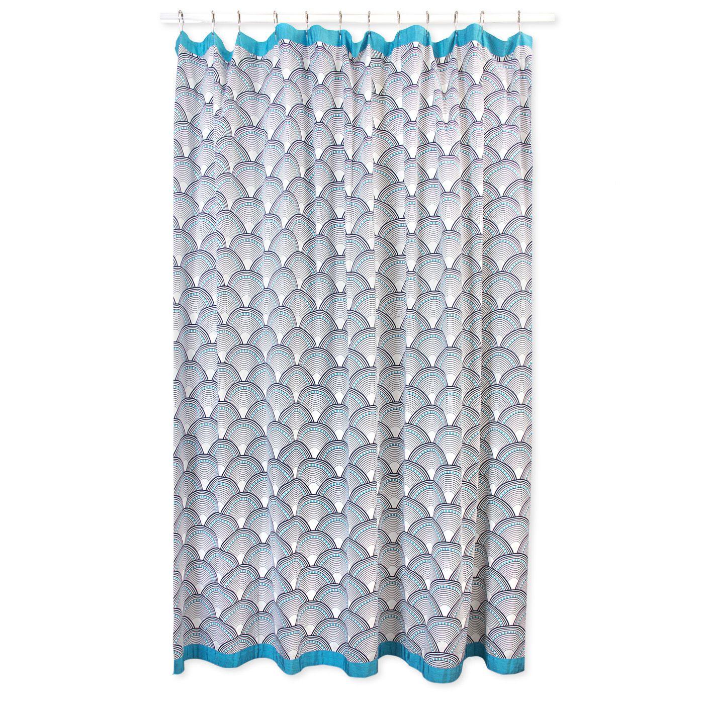 Modern Bath Linens | Fish Scales Shower Curtain | Jonathan Adler $98 ...