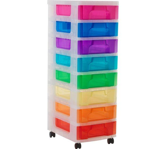 Buy Really Useful  Drawer Tower Storage Unit Multicoloured At Argos Co Uk
