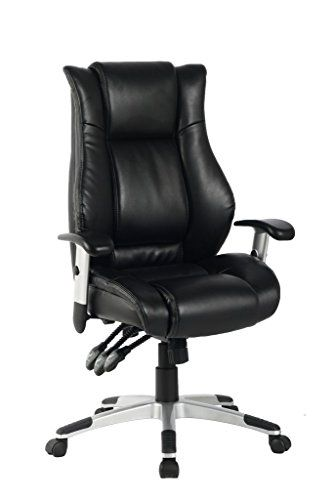 VIVA OFFICE Hot High Back Bonded Leather Executive Chair with Upgraded Arms  