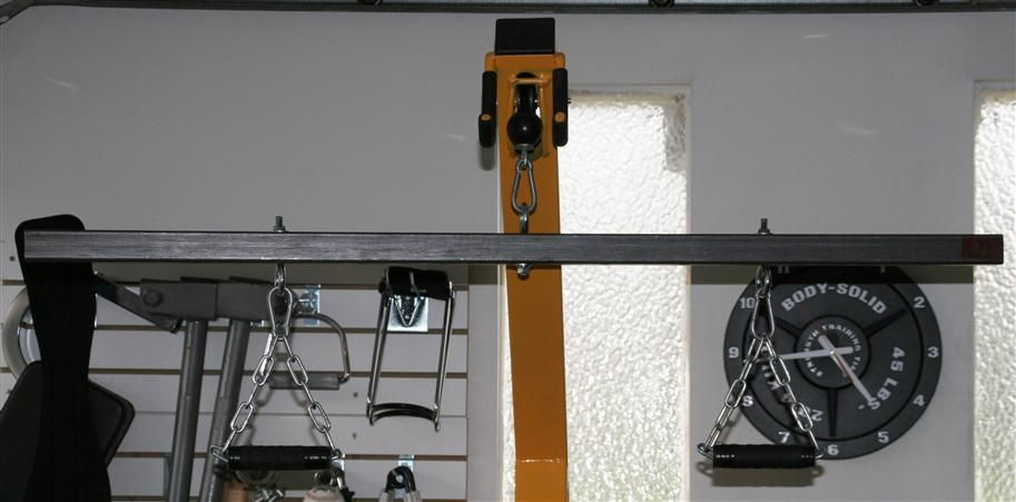 homemade lat pull down bar home gym pinterest homemade and gym