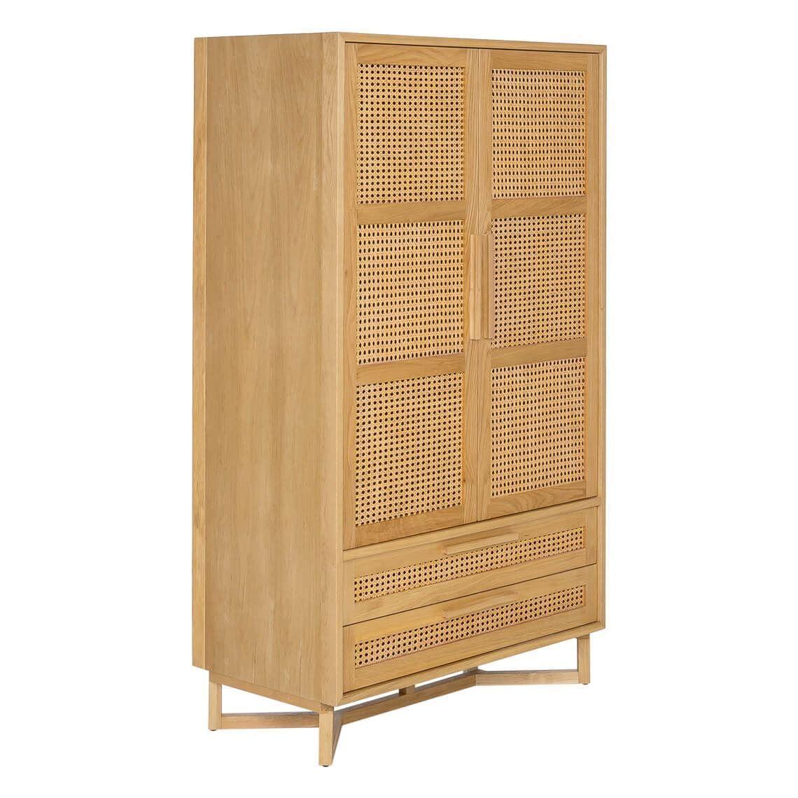 Raffles 2 Door 2 Drawer Robe Size W 95cm X D 50cm X H 165cm In