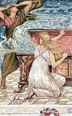 Pandora Opens The Box Crane Art Print Canvas Mitologia Griega Mitología Mitos Y Leyendas