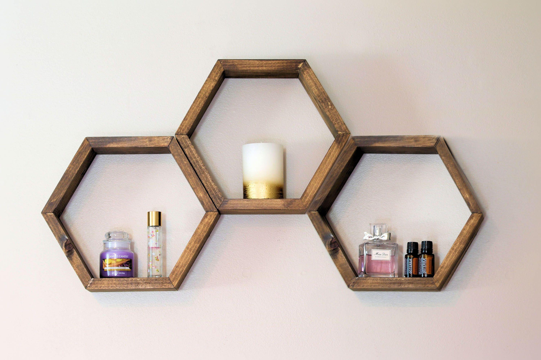 Honeycomb Shelf, Honeycomb Shelves, Hex Shelves, Hexagon Shelves, Geometric Shelf,