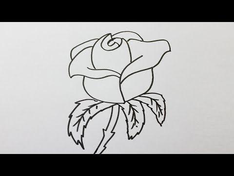 comment dessiner une rose facilement youtube astuces en peinture pinterest rose. Black Bedroom Furniture Sets. Home Design Ideas