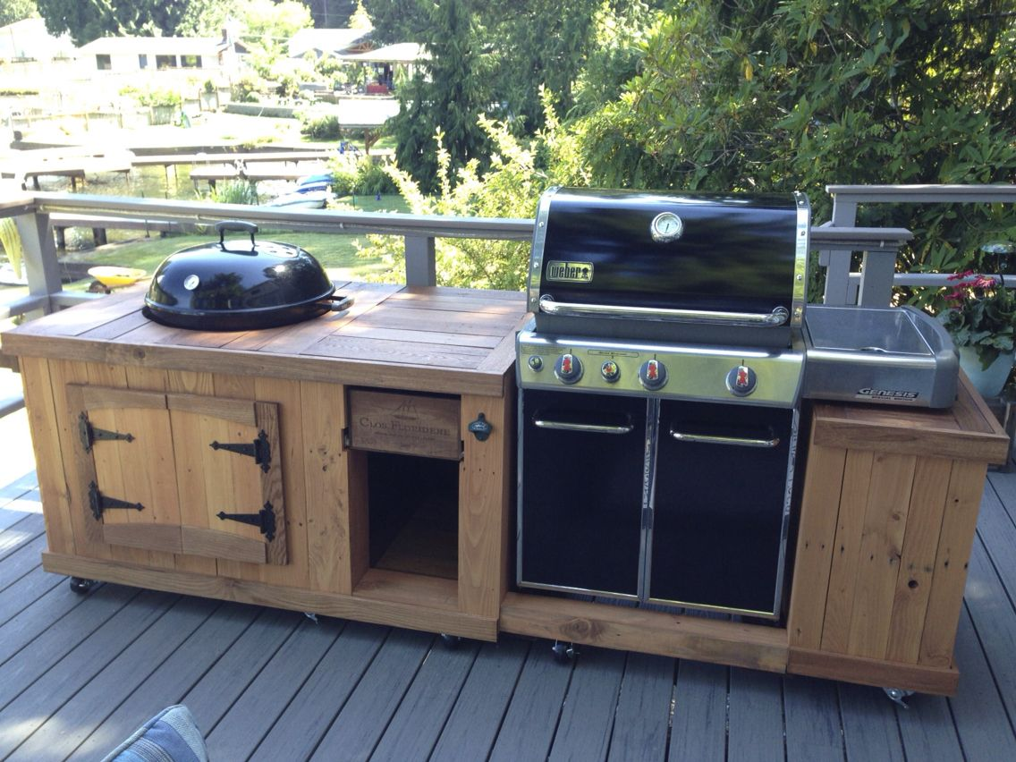 bbq station from pallet boards completed woodworking projects pinterest barbecue jardin. Black Bedroom Furniture Sets. Home Design Ideas