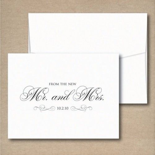 Wedding Thank You Note Cards From The New Mr