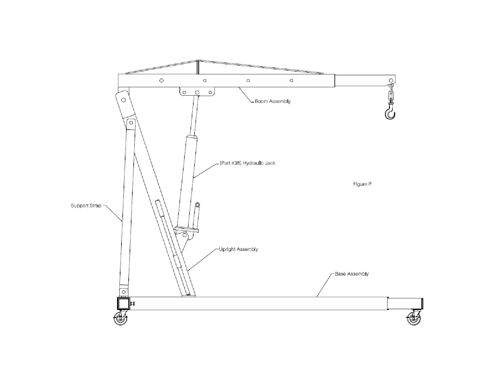 Engine Hoist Plans DIY Work Shop Crane Garage Lift System