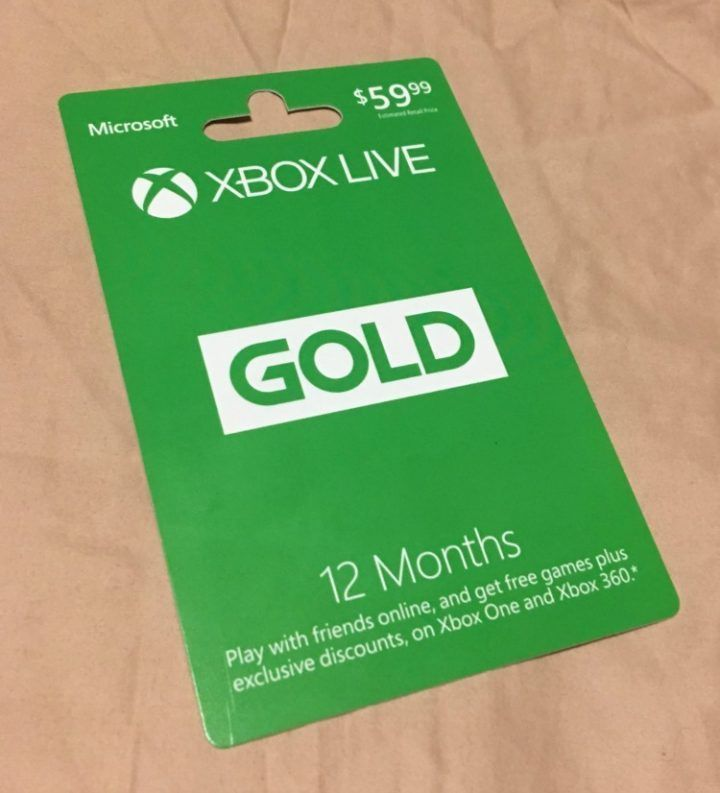 Xbox   Xbox One Live  Month Gold Membership Card