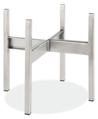 Room Board Modern Stilt 11 5w 5d 10 5h Planter Stand In Stainless Steel