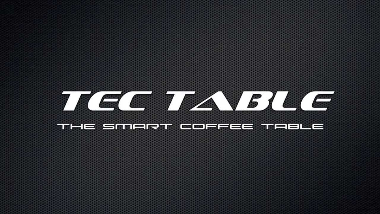 TecTable smart coffee table, Qi wireless charging, NFC