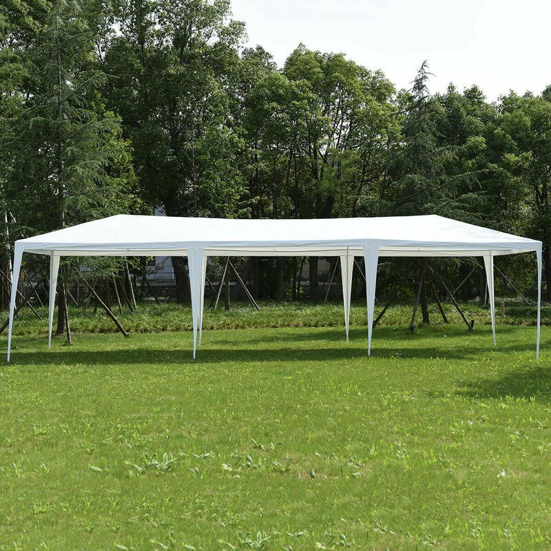 30 Ft W X 10 Ft D Steel Party Tent In 2020 Canopy Tent Outdoor Party Tent Event Tent