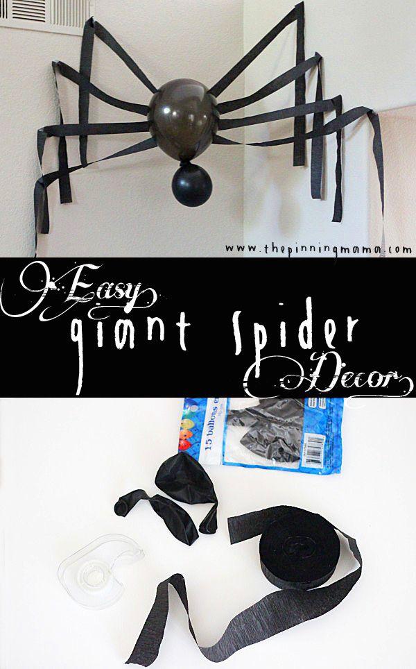 Halloween decoration Kiddos- crafts  fun time Pinterest - giant spider halloween decoration