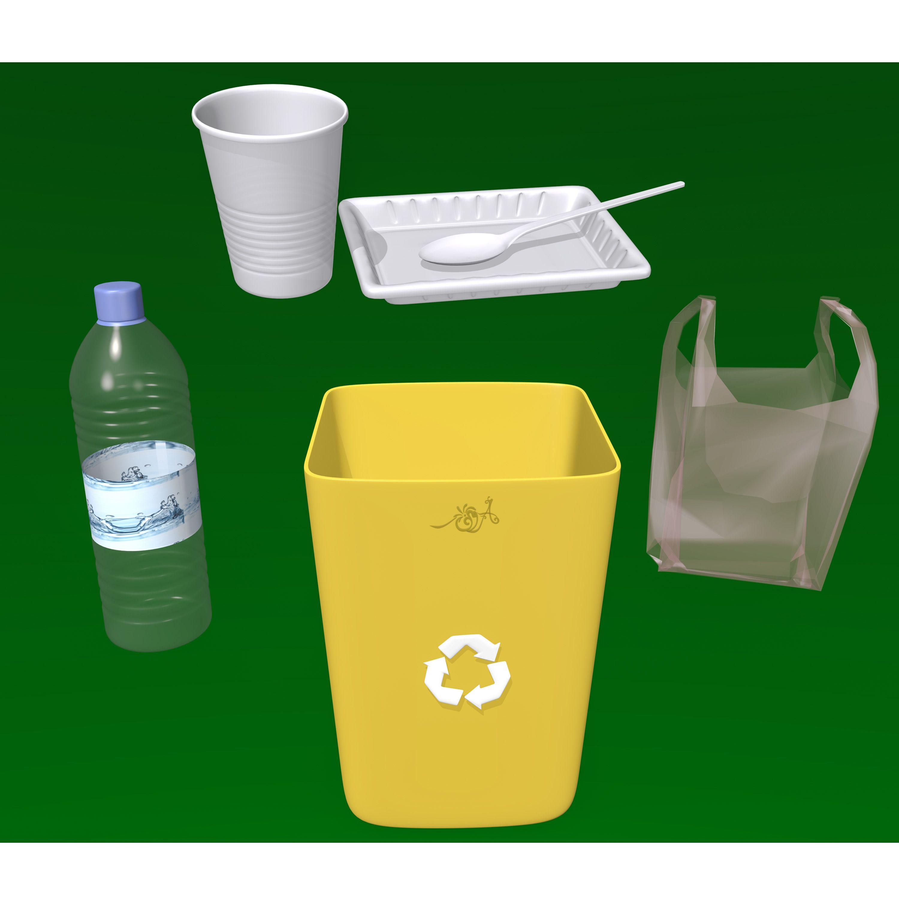 إعادة التدوير بلاستيك Glassware Tableware Kitchen