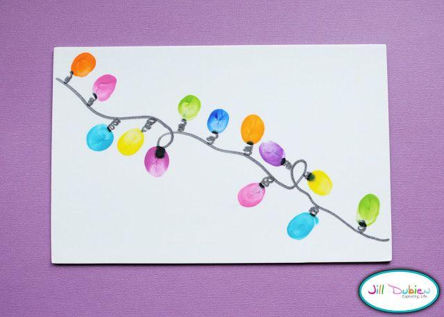 christmas card ideas fingerabdr cke lichterkette und weihnachtskarten. Black Bedroom Furniture Sets. Home Design Ideas