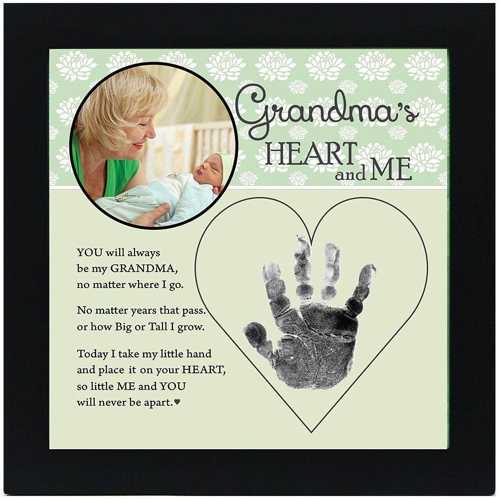 Grandmas hand in heart photo frame keepsake
