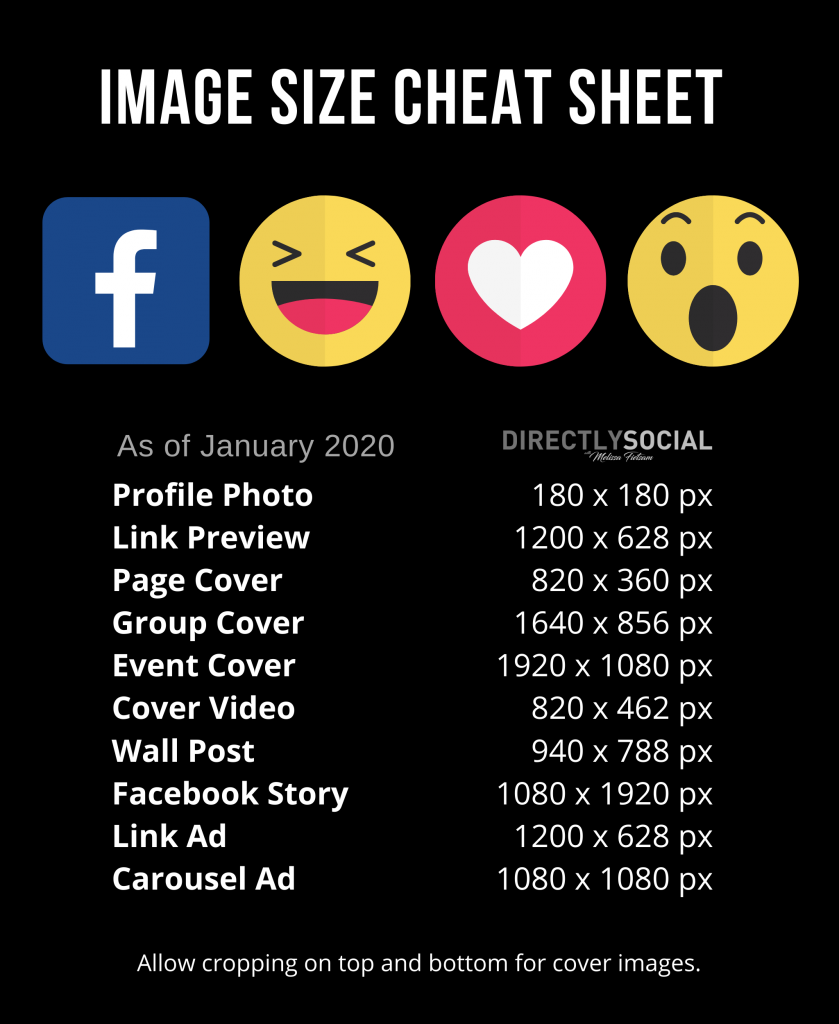 facebook image sizes for 2020, 2020 images for facebook
