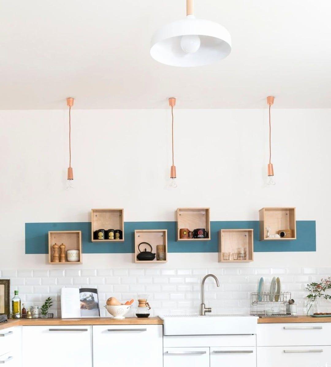 frise-murale-cuisine-blanche  Tendance deco, Deco chambre