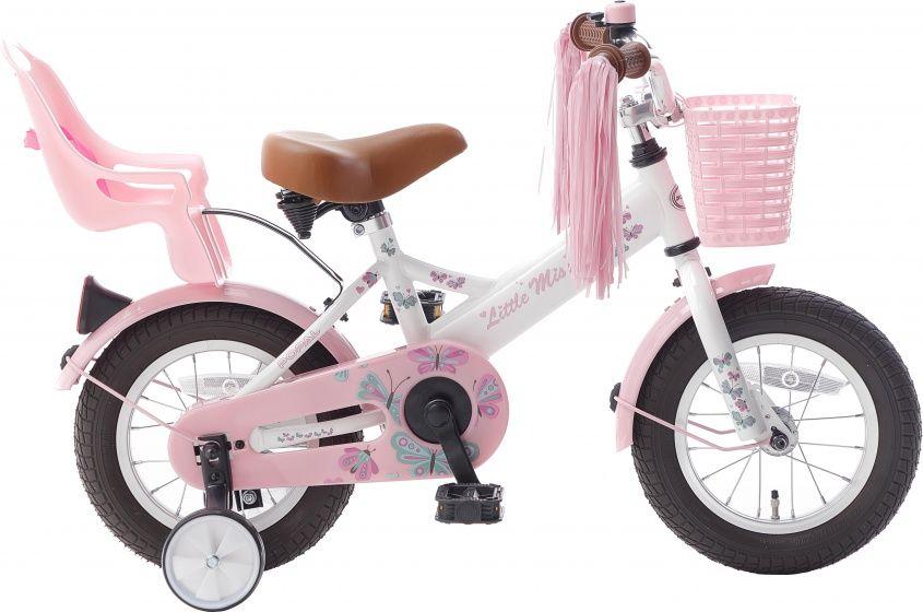 Popal Little Miss 12 Zoll 21 5 Cm Madchen Rucktrittbremse Weiss Rosa Fahrrad 12 Zoll Kinderfahrrad Puky Fahrrad