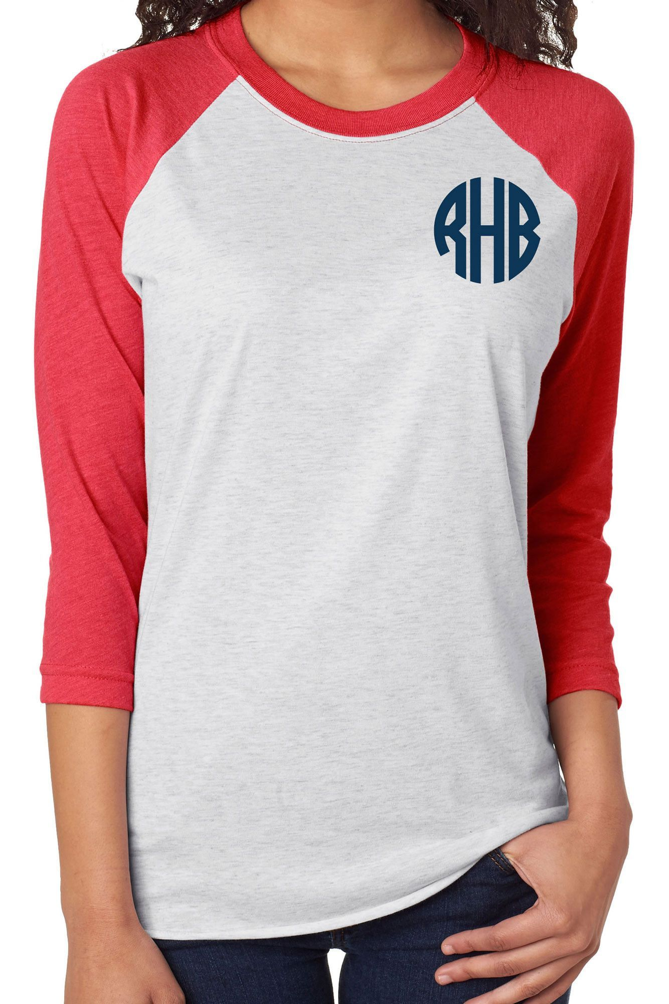 3/4 Sleeve Raglan - Red & White