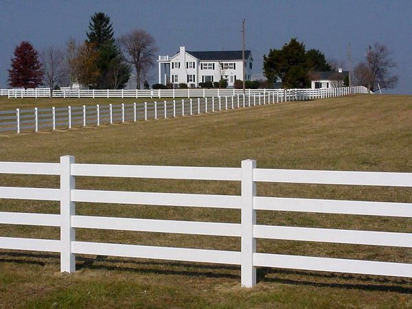 White Horizontal Fencing