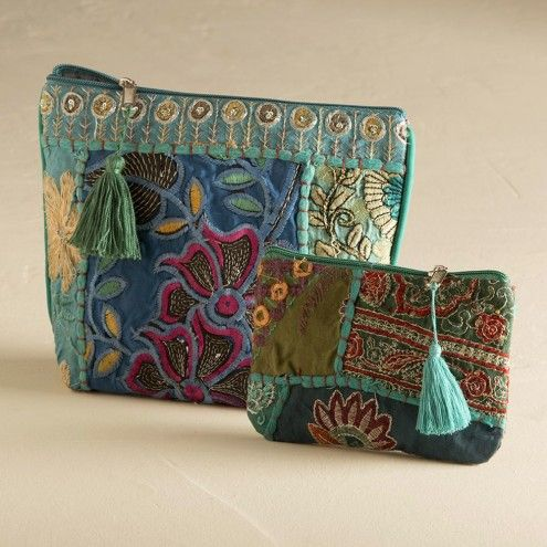 recycled eco-friendly sari silk  bag