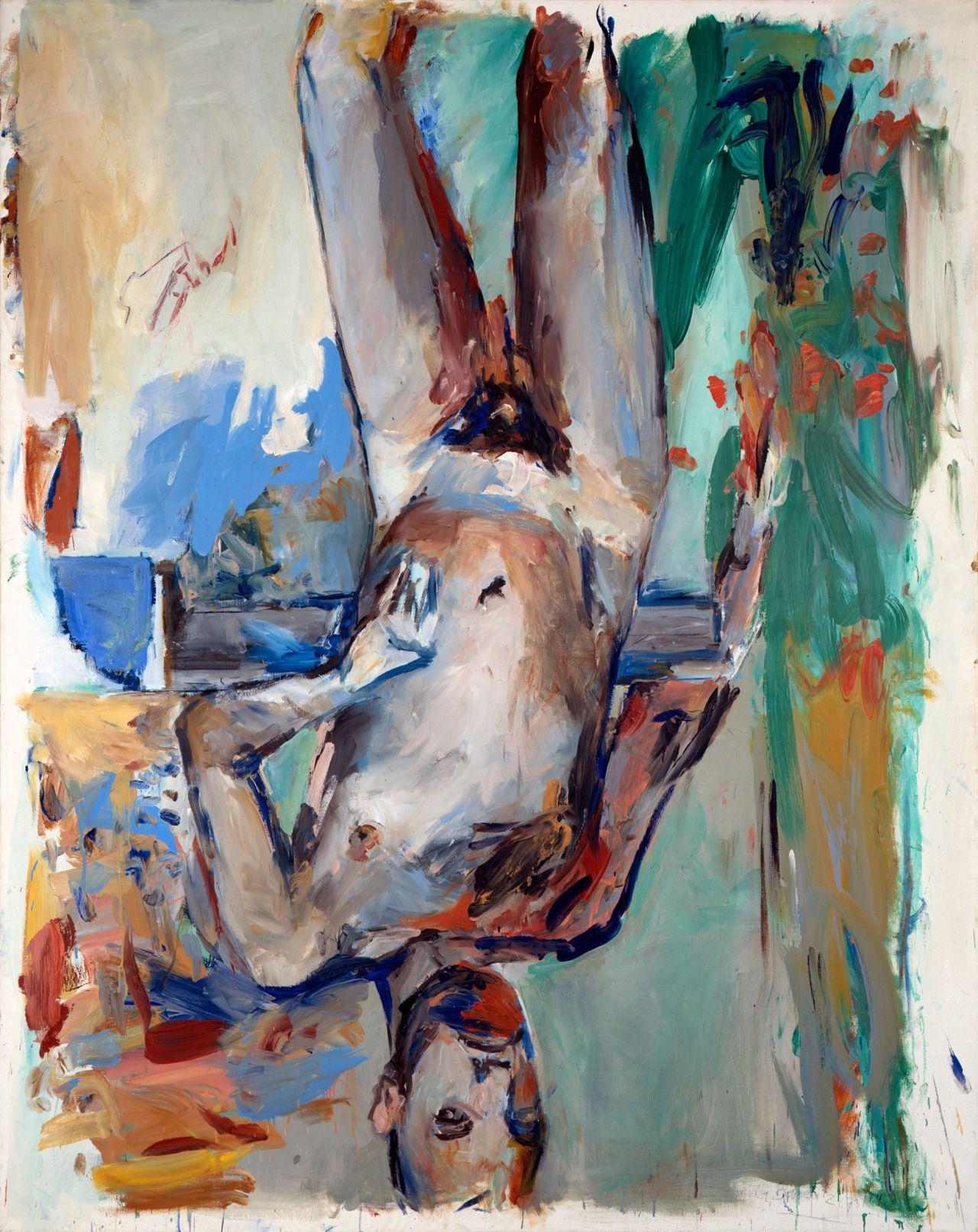 Georg Baselitz, Male Nude (Self Portrait), 1973-74 / Fingerpainting, oil on canvas