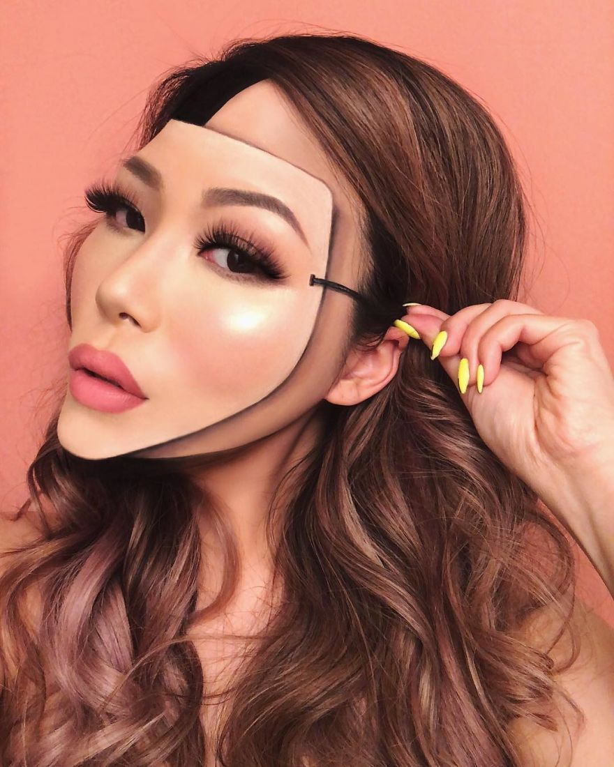 Woman Gives Up Teaching To Create Optical Illusions With Makeup And It S Messing With Our Minds New Pics Artistry Makeup Mask Makeup Gorgeous Makeup