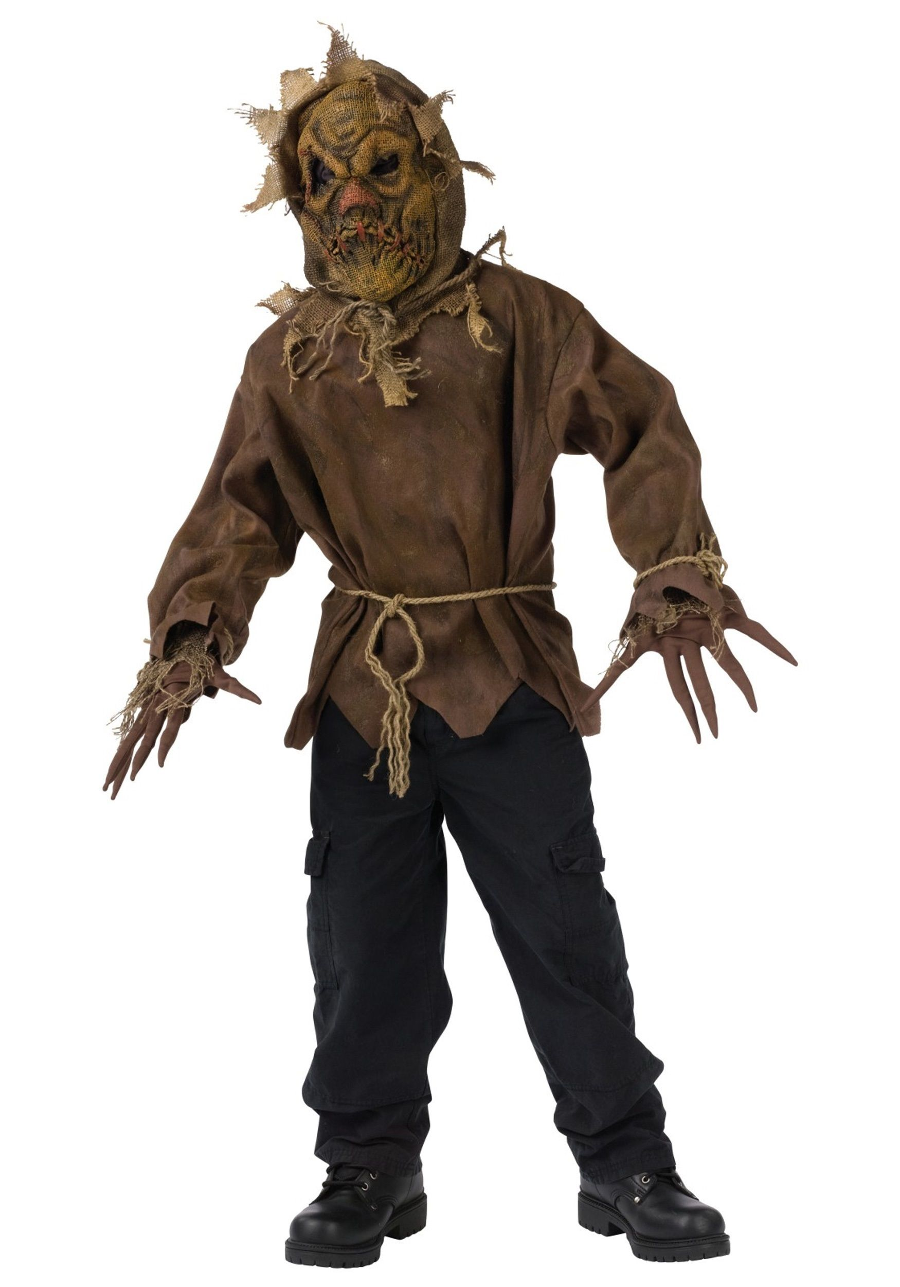 scary halloween costumes child dark scarecrow costume