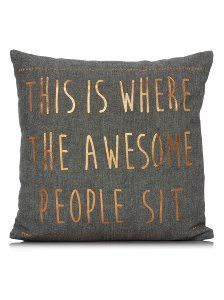 George Home Awesome People Slogan Cushion 43x43cm | Home & Garden | George at ASDA