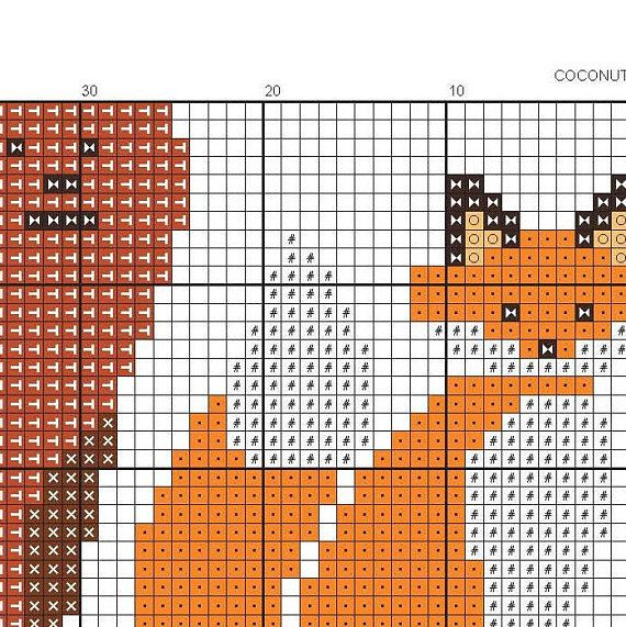 Forest Animals Cross Stitch Pattern Available As