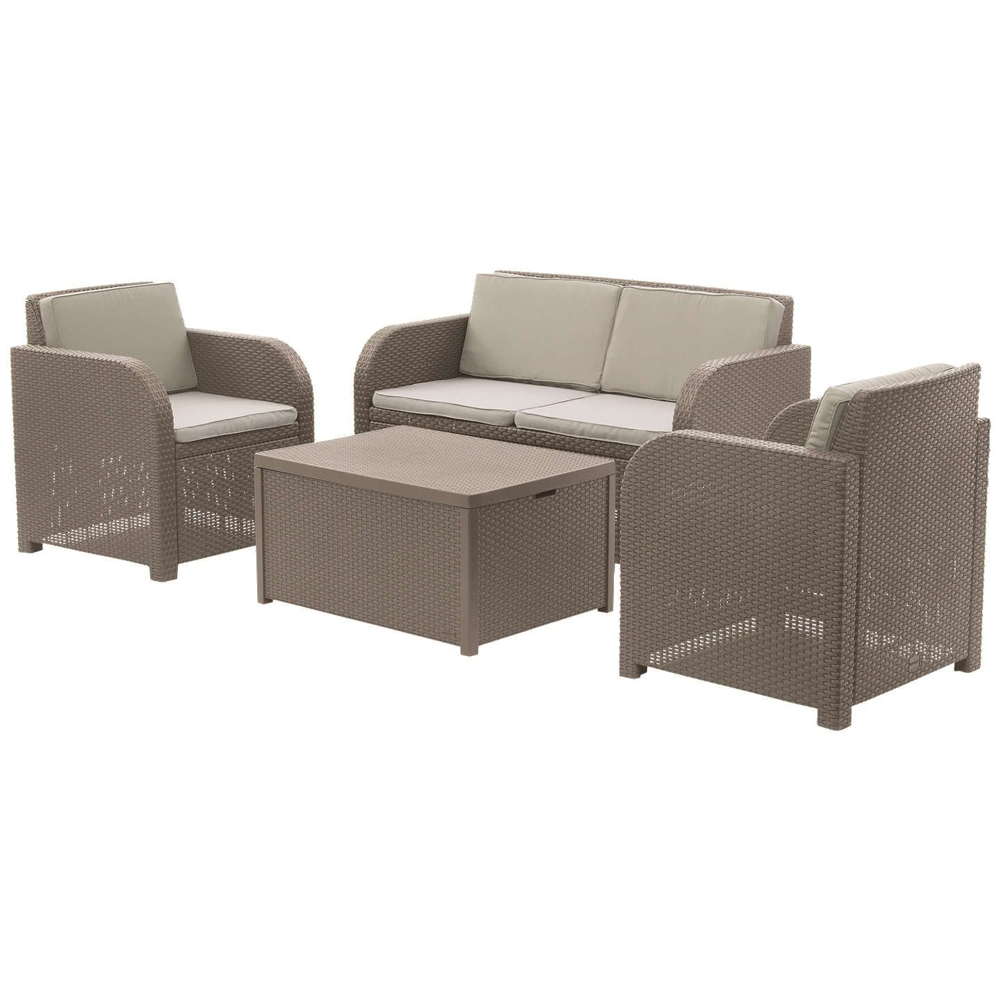 Oasis 4 Seater Garden Lounging Table And Chairs Set: John Lewis & Partners Oasis 4 Seater Garden Lounging Set