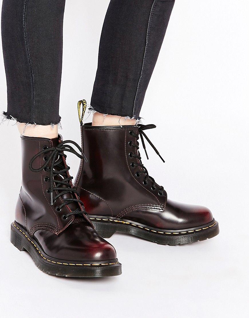 ad4324feb988b Вишневые ботинки с 8 люверсами Dr Martens 1460 Arcadia