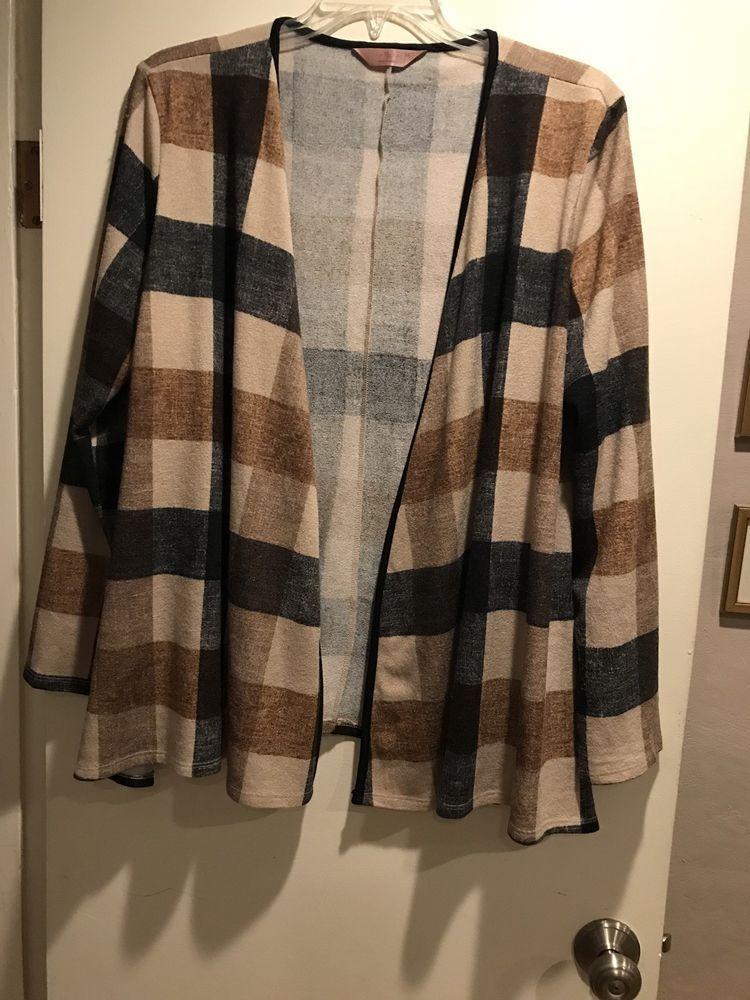 3c6d17ea45016 Womens light blazer A line plus 3X black brown beige  fashion  clothing   shoes  accessories  womensclothing  coatsjacketsvests (ebay link)