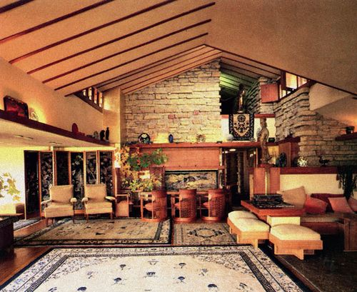 taliesin wisconsin interior interior of frank lloyd. Black Bedroom Furniture Sets. Home Design Ideas