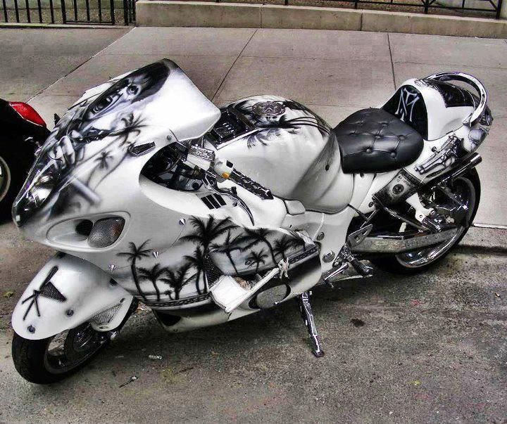 Hayabusa One Of The Fastest Bikes In The World Custom Paint