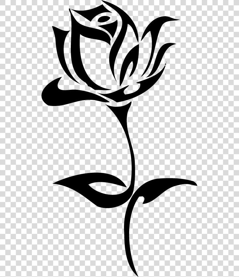 Tattoo Rose Art Clip Art Tattoo Rose Image Png Tattoo Art Black And White Clip Art Drawing Tribal Rose Tattoos Flower Drawing Rose Outline