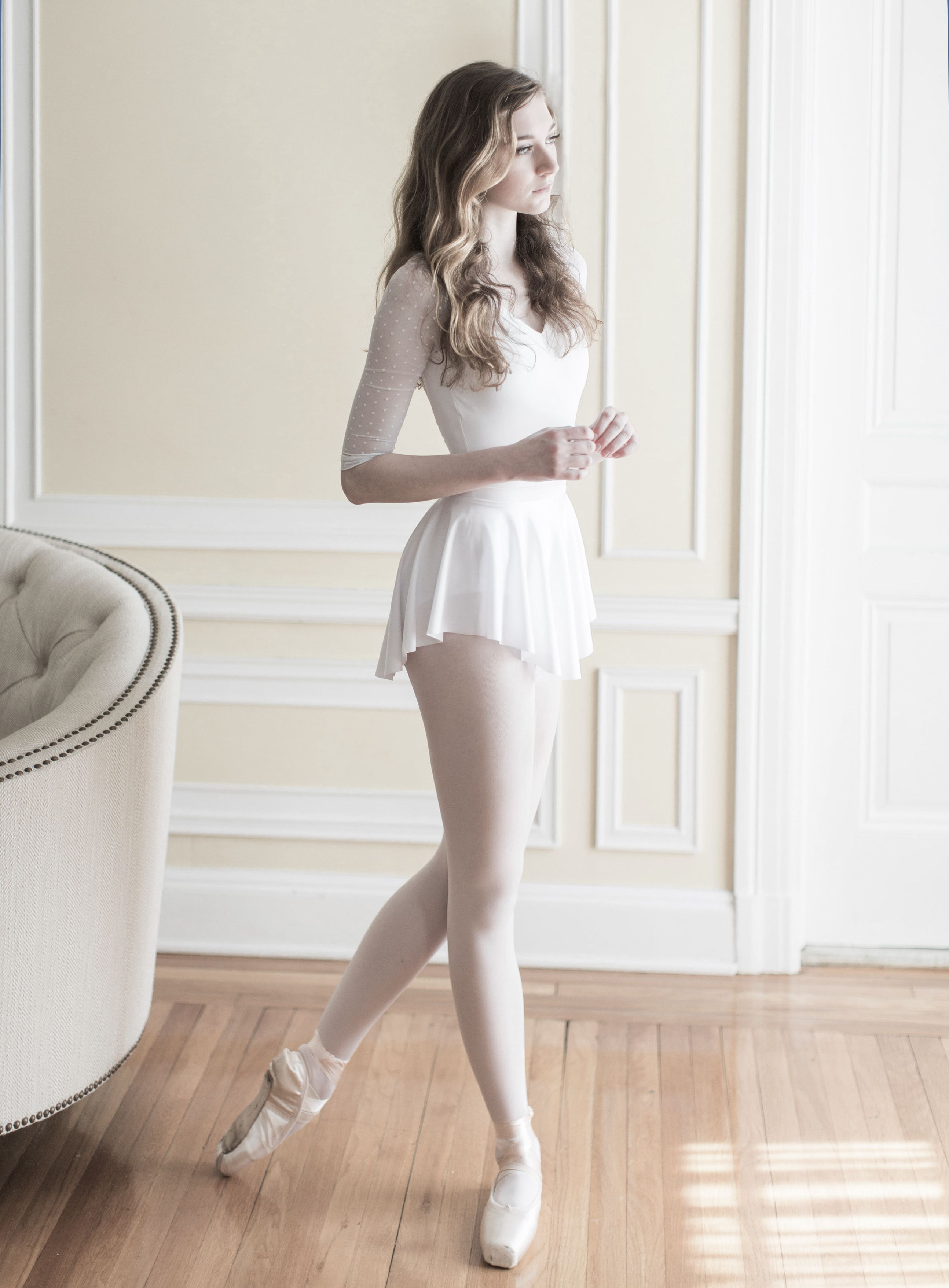 SAB skirt in classic white by Royall Dancewear...Photo by Abby Grace ...