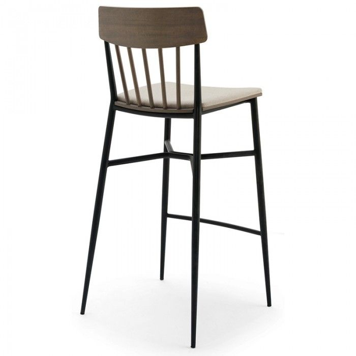 Beaufurn Lotus S Barstool The Unique Combination Of Metal Frame,  Upholstered Seat And Wood Back