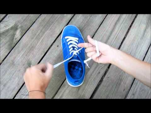Pinner says...This is the best (and fastest) way to tie shoes. I even teach the kids when I'm subbing. It blows their minds.