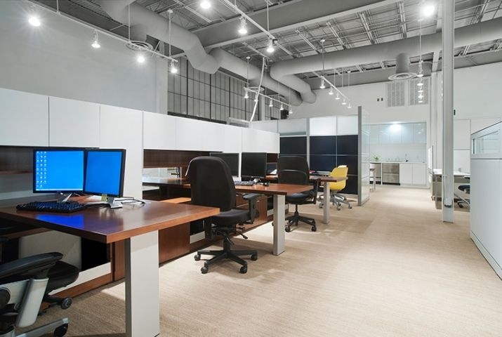 rockford business interiors austin open office plan steelcase commercial furniture