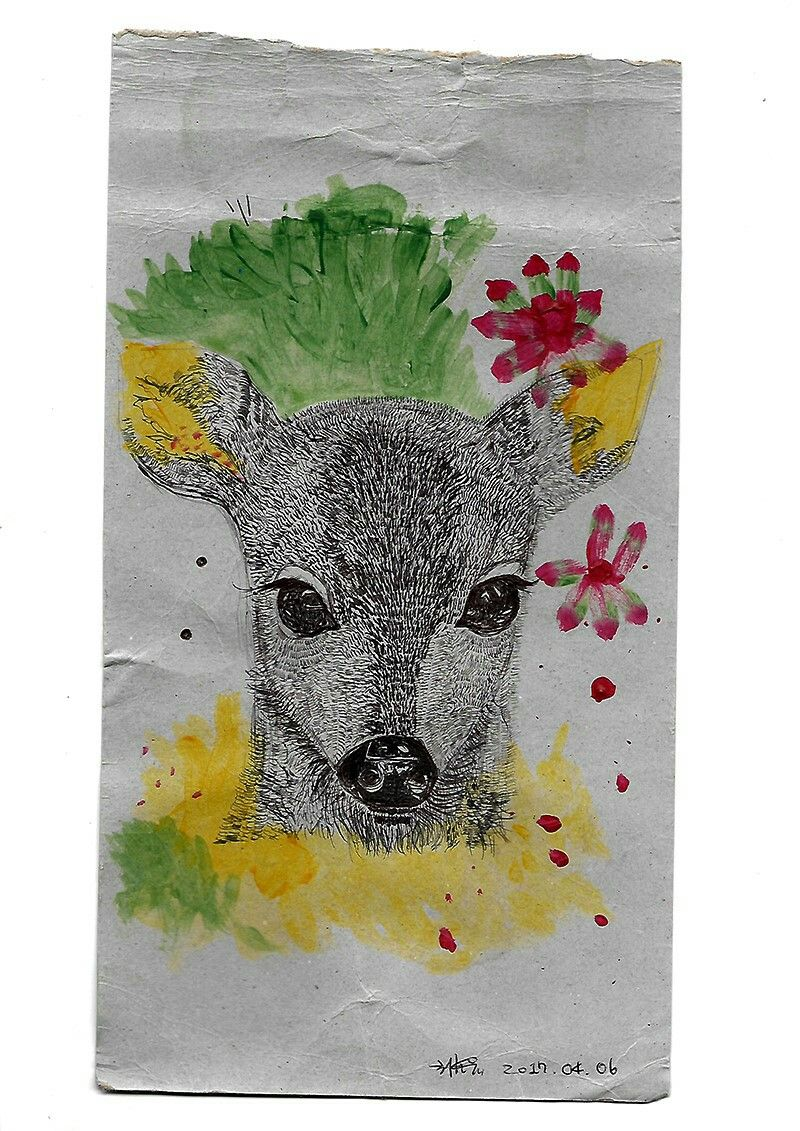 꽃 사슴 / flower deer